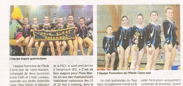 Extrait de l'article : «L'équipe promotion de l'étoile Claire Joie de Saint Nazaire, composée de 2 jeunesses (Lola Colin, et Chloé Lusseau), associées aux aînées (Mathilde Lamy, Flora Martin et […]